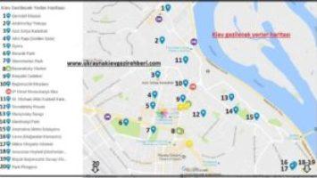 Kiev gezilecek yerler haritası