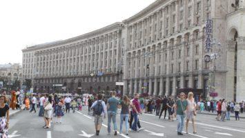 Kiev Khreshchatyk Caddesi Gezmeden gelmeyin