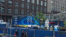 Kievde 2018 UEFA şampiyonlar Ligi için eylence başlamıştır maç yarın akşam millet kopuyor